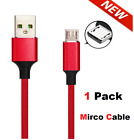 3/6/10Ft Micro USB Fast Charger Cable Data Sync Cord For Samsung HTC Android LG