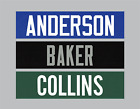Football Dazzle Nameplates w/ Tackle Twill Letters Team Uniform Jersey Not Sewn