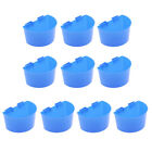 10 Pcs Pigeons Sand Cups Bird Food Water Container Thickened plastic  Bowl for