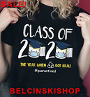 Senior Class Of 2020 Quarantine Graduation Toilet Paper Funny T-Shirt Free Ship image