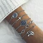 UK BOHO BRACELET BANGLE SETS Gypsy Tribal Ethnic Bohemian Chain Cuff Jewellery