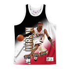 Allen Iverson Philadelphia 76ers Behind The Back HWC Throwback NBA Tank on eBay