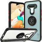 Ring Case For LG K51 Magnetic Metal Kickstand Clear Shockproof Hard Phone Cover