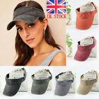 Girls Ladies Summer Vacation Visor Cap Outdoor Excerise Golfing Adjustable Hat