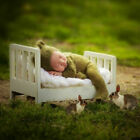 Mini Wood Newborn Baby Bed Detachable Wooden Photography Photo Props For