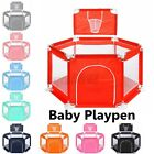 6 Color 3 Type Portable Playpen Baby Play Yard Home Safety Fence Indoor Outdoor