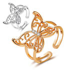Hot Women Hollow Butterfly Rhinestone Wide Opening Finger Ring Party Jewelry AU
