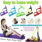 Multi-Function Gym Four-Tube Puller Pedals Elastic Legs Pull Tension Rope US  image