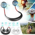 Kyпить Portable USB Rechargeable Neckband Sport Fan Lazy Neck Hanging Dual Cooling Fan на еВаy.соm