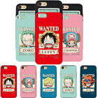 One Piece Wanted Card Slide Case for Apple iPhone 11/ Pro/ Max/ XR XS X/ 8 7 6