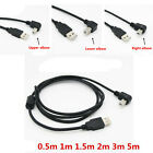 USB 2.0 A Male to B Male Right Angled 90 Degree Printer Scanner Hard Disk Cable