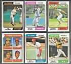 1974 Topps Baseball Cards, Rookie, HOF & Star Players, Special Cards, You Choose