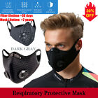 Reusable Face Mask Double Breath Valve With Carbon Filter Purify Respirators Us