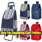 Shopping Cart Carts Trolley Canvas Bag Market Pull Luggage Portable Basket Shop