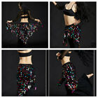 US 2020 Women Belly Dance Costumes Hip Scarf Wrap Belt Skirt Sequin triangle