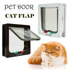 US 4 Way Pet Cat Flap Puppy Dog Lock Lockable Safe Flap Door FAST SHIPPING
