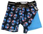 2 American Basics USA Flag Skulls Stars Stripes Performance Boxers Men's NWT