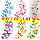 12pcs 3d Butterfly Wall Art Decal Stickers Magnet Mural Home Room Decoration Diy