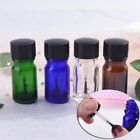 4 Colors 5ml Clear Glass Empty Nail Polish Gel Bottle Containers With Brush *DM