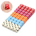 10Pcs 14Mm Six Sided Spot Fun Board Game Dice Games Party Gambling Game Dices*DM