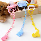2pcs Cartoon Baby Pacifier Chain Clip Anti Lost Dummy Soother Nipple Hol*DM