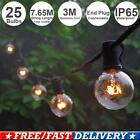 34.9FT Globe Festoon String Light Blubs G40 Outdoor Fairy Garden Party Decor