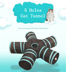 Collapsible Cat Tunnel Tube 2/3/4/5 Holes Pet Play Hole Interactive Indoor Toys