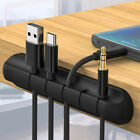 Portable Silicone USB Charging Cable Data Cord Clips Holder Desktop Organizer