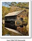 Mill And Covered Bridge Art Print / Canvas Print. Poster, Wall Art, Home Decor