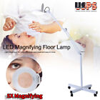 5X LED Magnifier Lamp Rolling Floor Stand Facial Magnifying Beauty Tattoo Light