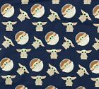 Kyпить NEW BABY YODA NAVY! 100% Cotton Fabric FAT QUARTER 18