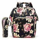 Peony Diaper Bag Baby Nappy Backpack Bag Bottle Storage bag  Changing Pad