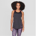 Champion C9 Women's Duo Dry Black Running Reflective Breathable Tank Top New