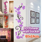 Removable Diy 3d Flower Wall Sticker Vinyl Quote Decal Mural Home Room Decor Art