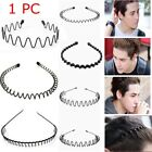 Alice Style Wavy Headband Black Head Hoop Sports Metal Hairband Casual Headwear