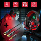 Gaming Headset Stereo Headphone Mic Surround For PC XBOX One PS4 Nintendo Laptop