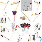 Interactive Sisal Balls Feather Cat Stick Teaser Wand Playing Rod Cat Toy V$YPT