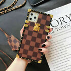 Classic Square Plaid PU Leather Shock Case Cover for iPhone 12 Mini 11 Pro Max X