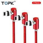 Topk 3 Pcs 360° L Shape Magnetic USB Charging iPhone Type C/ Micro USB Cable US