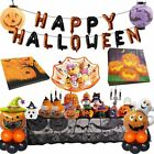 Happy Halloween Decorations Pumpkin Ghost Treat Plate Napkins Table Cover Party