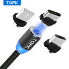 TOPK Magnetic Cable Type C Micro USB Lightning Magnet Charge for iPhone Android