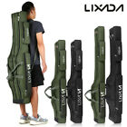 '3 Layers Fishing Rod Carrier Canvas Pole Tools Storage Gear Tackle Bag Case Z7z3