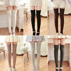 Ladies Long Cotton Stockings School girl Preppy Thigh Knee-High Socks New