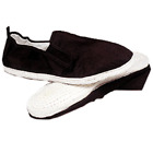 Black Kung Fu Tai Chi Shoes White Cotton Sole Chinese Ninja Slip on Slippers