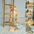 Fall Maple LED String Light Leaf Christmas Party Garland Fairy Halloween Decor