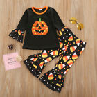Halloween Toddler Baby Girls Pants Outfits Clothes T-shirt Tops Trouser Set 2PCS