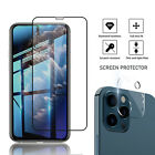 For iPhone 12/Pro Max/Mini/11 Full Cover Tempered Glass Screen Protector Camera