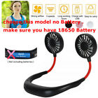 Portable USB Rechargeable Neckband Cooling Mini Fan Lazy Neck Hanging Style /USA