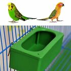 Parrot Food Water Bowl Cups Bird Pigeon Cage Feeding Dish Plastic Feeder