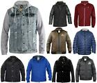 Mens Jackets Long Sleeves Zip up Branded Warm Casual Coat Top Clearance Sale
